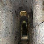 walking through underground