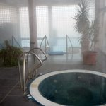 inside pools and jacuzzi