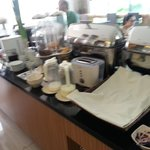 Breakfast Buffet -  - Continental Sec. - Bread Under White Cloth