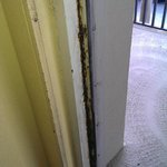 rusted door frame, room 302