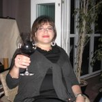 enjoying wine at La Scarpetta