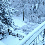 Snow on the deck in the winter of 2013-14