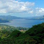 view from overlook on jungle trek