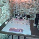 Un romantico tavolino d'angolo