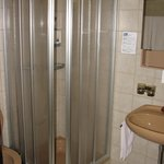 Fairly basic shower stall.