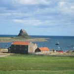 View of Lindifarne castle from our room