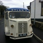 Dylan`s retro van outside
