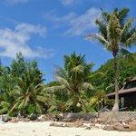 les villas vues de la plage