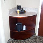 corner area with coffee maker