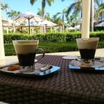 Tasty cappuccino's at the plaza