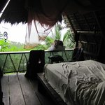 "The ""Mango"" cabin as seen from the door and part of the amazing view"