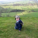 Grandson on top of Wheeldon Hill