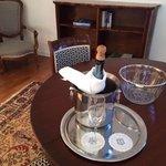 Champagne di benvenuto nella suite 51