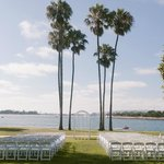 Our wedding ceremony site facing the bay