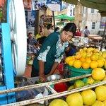 fresh-squeezed orange juice--local market...