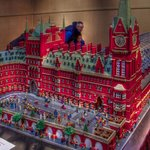 St Pancras Station in Lego