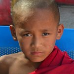 a young monk at a local temple...