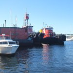 Tugboats on the Belfast waterfront