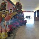 Feliz Navidad, lobby entrance.