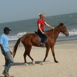 Ride the horses on the beach - its great fun !