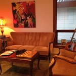 Sitting room with guitar on offer!