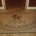 il tappeto all'ingresso della hall