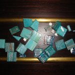broken tiles taken from jacuzzi