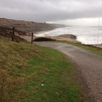 Stormy sea at Highcliffe Beach