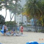 Santa on the beach at WBC
