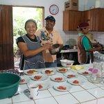 Kitchen staff preparing the breakfast