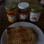 Breakfast - toast and local jam