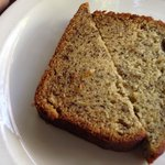 warm banana bread is a slice of heaven