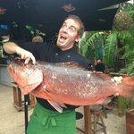 Nestor just bought this fish! so fresh!