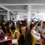 Restaurante lotado