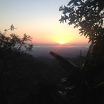 A beautiful sunset while hiking thru the fruit orchard.