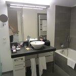 Clean, large, and elegant bathroom
