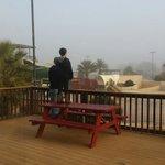 Overlooking waterpark