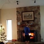 Fireplace was great