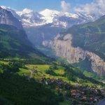 View from Wegen of Lauterbrunnen Valley