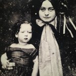 A very young Robert E Lee Jr with his mother Mary Custis Lee
