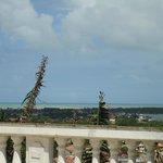 Vista da cidade (varanda do restaurante no café da manhã)