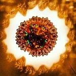 Imagen de una lámpara hecha desde abajo