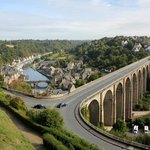 The bridge coming into Dinan - a beautiful town not far away from Ferme St Christophe.