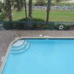 View at the outside pool from our 2 bedroom suite
