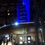 La devanture de l'hôtel