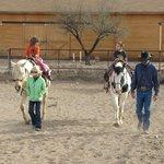 Grandchildren riding
