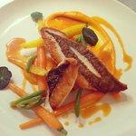 john dory, orange, carrot, coastal bonefruit, nasturtium