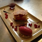 summer berry & white chocolate mille feuille