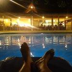 piscinas con luz sub acuatica