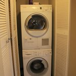 Small front load laundry units inside the condo #305